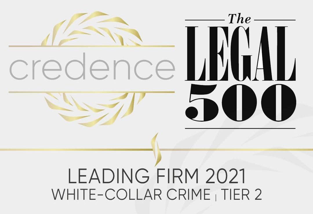 CREDENCE в міжнародному рейтингу LEGAL 500
